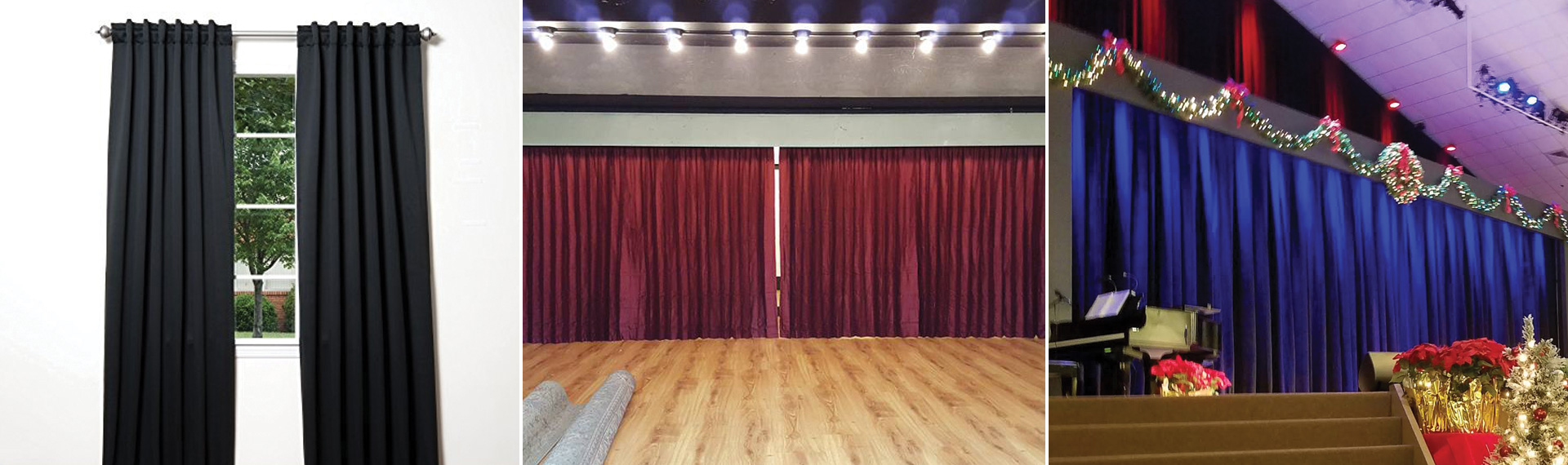 Custom Sewn, Luxury Cotton Velvet Curtains Los Angeles CA